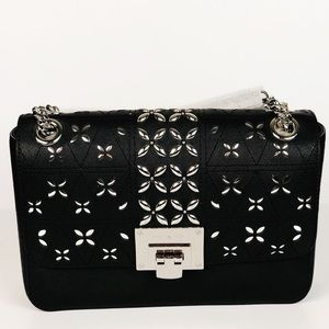 MICHEAL KORS TINA STUDDED MEDIUM SHOULDER FLAP BAG